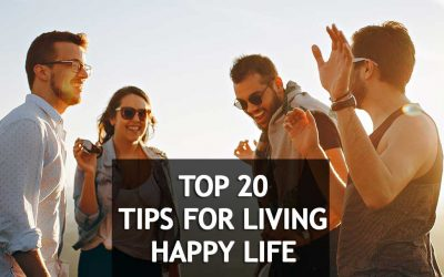 How to live a happy life – Celebrities revealed their 20 secretes tips [Infographic]