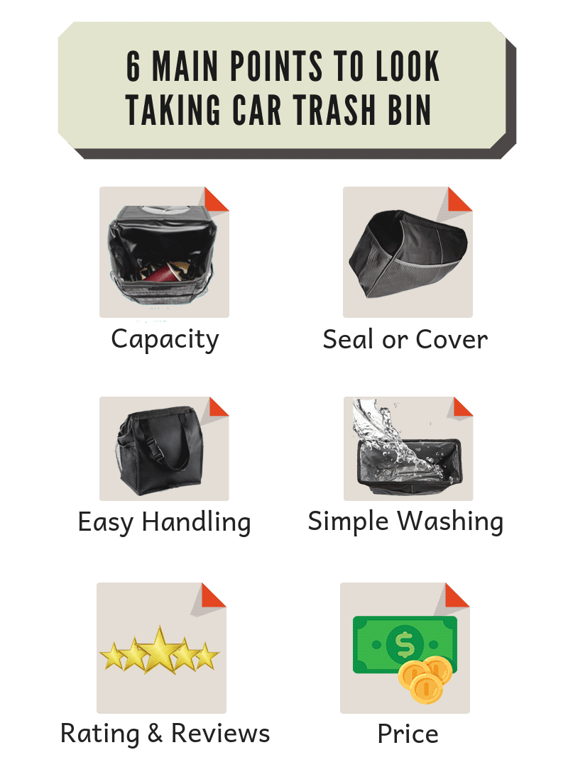 6 main points to buy car trash can